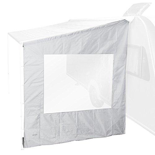 Bo-Camp universeel zijwand met venster voor luifel, grijs, 225x213x290-250x234x290 cm 225 x 213 x2 90 cm grijs