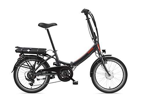 Telefunken E-Bike Klapprad Elektrofahrrad Alu, Grau, 7 Gang Shimano Kettenschaltung - Pedelec Faltrad Leicht, 250 W und 10,4 Ah / 36 V Lithium-Ionen-Akku, LCD-Display, 20 Zoll, Kompakt F810