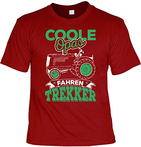 Boer motief Kerstmis T-shirt cool opas rijden trekker boer man boer cadeau-idee boer shirt Laiberl