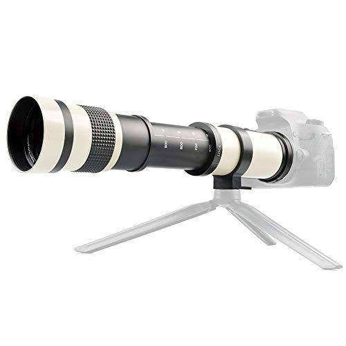 420-800 mm F/8.3-16 Enfoque Manual Teleobjetivo Lente con Zoom Teleconvertidor Lente Soporte...