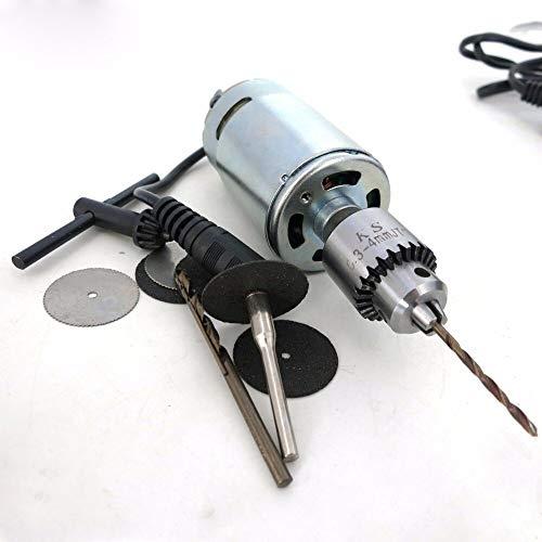 DC Motor Model Drill 12V Micro DC Drill Building Model Drilling Tool High Speed Motor Drill