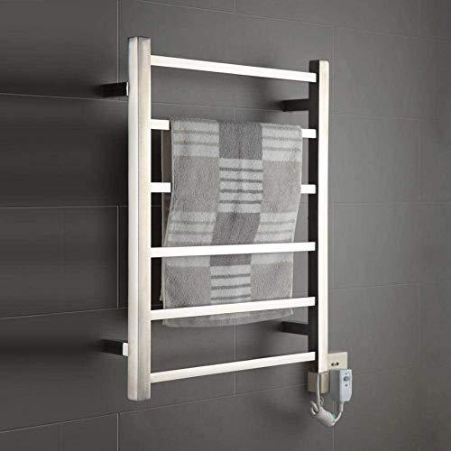 ZHTY Toallero eléctrico para baño, Calentador de Toallas de Acero Inoxidable 304,...