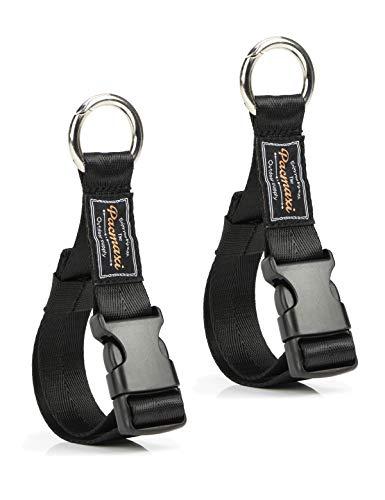 Round Strong Handy Hooks Clips Organizer Hanger for Walker, Rollator, Crutches, Wheelchair, Shopping Cart, 2 Pack (Black)