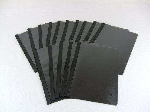 20 schwarze Cliphefter von einem deutschen Hersteller // Bewerbungsmappen Klemmmappen Mappen Klemmhefter