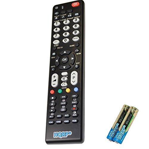 HQRP Remote Control Compatible with Hitachi L32S504 L40C205 L42A403 L42N03A L42N05A L42S503 LCD LED HD TV Smart 1080p 3D Ultra 4K Plasma