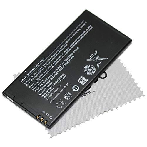 Batería para Original de Microsoft BV-T4B LiIon para Microsoft Lumia 640 XL, Lumia 640 XL DS con mungoo pantalla paño de limpieza