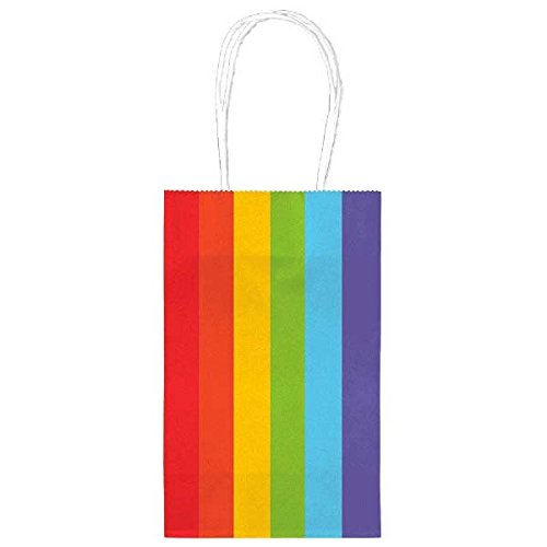 amscan 162500–9013x 21cm Rainbow behandeln Taschen