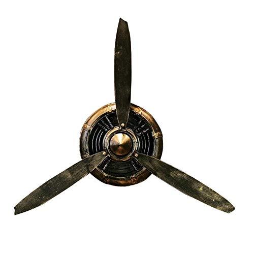 Decoración de pared de hélice de avión de metal, relojes de pared colgantes de hélice de avión de metal vintage, decoración de hogar de estilo industrial para sala de estar, habitación y cafetería