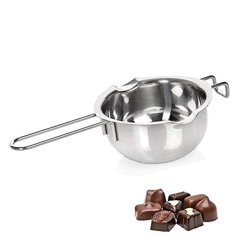 Milopon Bol à fondre pour bain-marie, chocolat fondu, casserole en acier inoxydable avec poignée pour faire fondre la casserole, le beurre chauffé, le fromage, la crème de cuisine