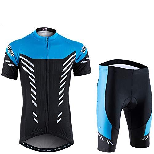Maillots Ciclismo Ropa Jersey Montaña Equipacion Conjunto Cómodo Verano Bici para Al Aire Libre Deporte Hombres Y Mujeres,Blue,L