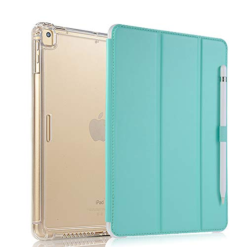Valkit iPad Pro 12.9 Case 2017/2015 (Old Model,1st & 2nd Gen) - iPad Pro 12.9 Inch Cover Smart Folio Stand Protective Translucent Frosted Back Cases with Auto Wake/Sleep, Mint Green