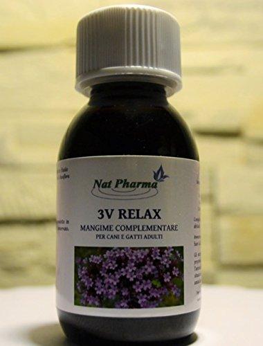 Nat Pharma - Italy 3V Relax 100ml Tranquillante Natural para Perros y...