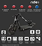 RIDE GB adult electric scooter 500 * 25 km/ph * 30 km range * smartphone APP * front suspension * xiaomi dashboard * UK headquarters.