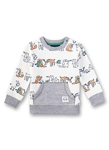 Sanetta Baby-Jungen Sweatshirt, Beige (Ivory 1829), 62 (Herstellergröße: 062)