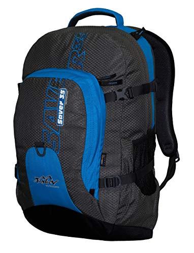 Tashev Outdoors Saver 35 l Daypack Laptop rugzak dames heren rugzak 17 inch (gemaakt in EU), grijs/blauw. (grijs) - Saver 35