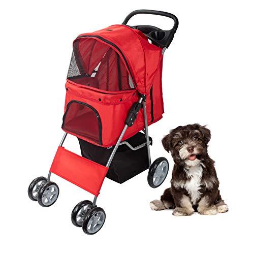 Display4top Pet Travel Stroller for Cat, Dog,Jogger Buggy...