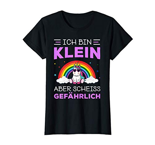 Damen Einhorn Unicorn Klein aber gefährlich Geburtstag Geschenk T-Shirt