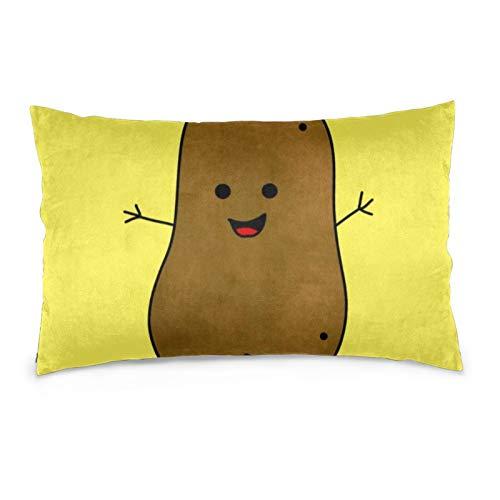 Lesif Fundas de cojín de terciopelo rectangulares fundas de almohada suaves decorativas para sofá, dormitorio, coche, 40,6 x 60,9 cm (bonito fondo amarillo de patata)