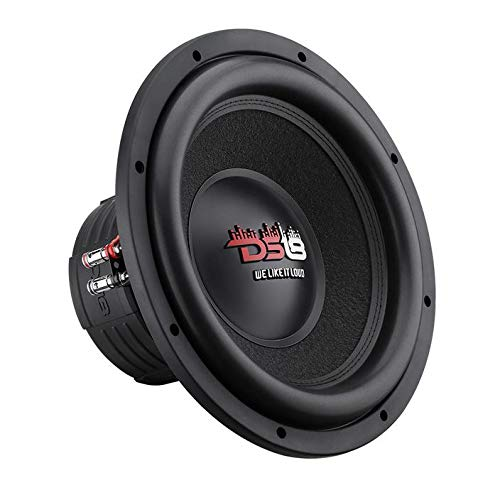 "DS18 Elite Z-VX10 12"" Car Subwoofer, 1400 Watts Max Power, Dual 4 Ohm (10 Inch)"