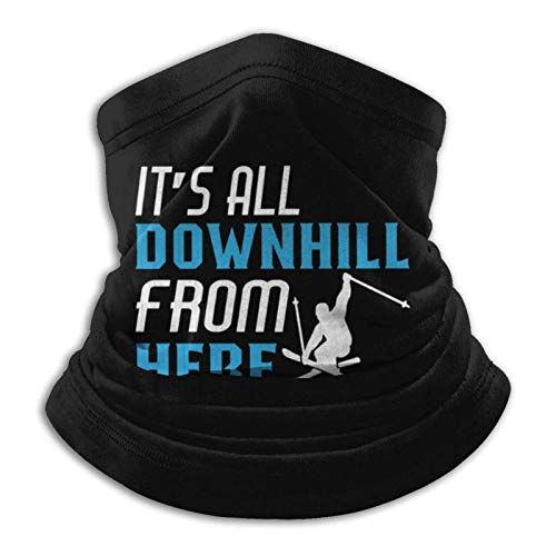 fenrris65 Itâ€s All Downhill from Here Novelty Ski Bandane unisex senza cuciture maschera per il collo ghettone sciarpa