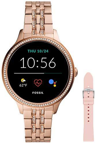 Fossil Smartwatch GEN 5E Connected da Donna con Wear OS by Google, Frequenza Cardiaca, GPS, Notifiche per Smartphone e NFC + Cinturino dell'orologio S181395