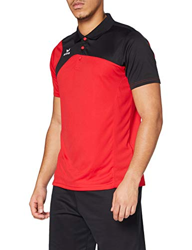 Erima Club 1900 2.0 Polo Homme, Rouge/Noir, FR : M (Taille Fabricant : M)