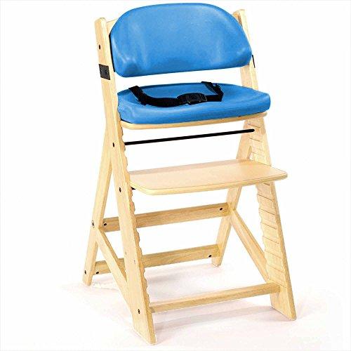 Sale!! Keekaroo Height Right Kids High Chair with Comfort Cushions, Natural/Aqua (0055204KR-0002)