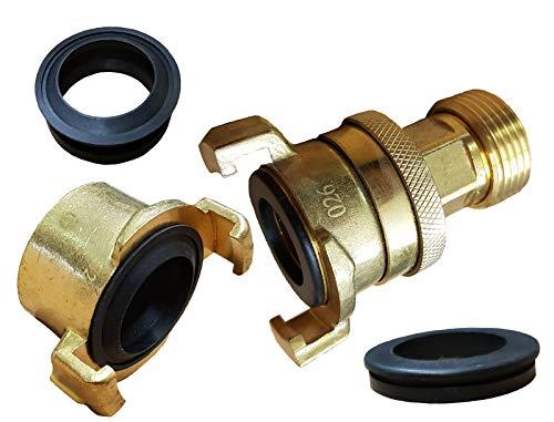 Brunnenandi Saugschlauch Anschluss-Set IG X AG mit Konterverschraubung_-=-_ um mit Hauswasserwerk Schwengelpumpe oder Pumpenstock zu fördern auch Geka kompatibel