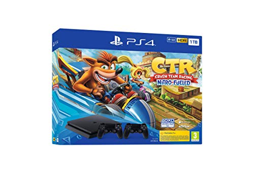 PlayStation 4 (PS4) – Consola, 1 TB, Color Negro + Crash Team Racing