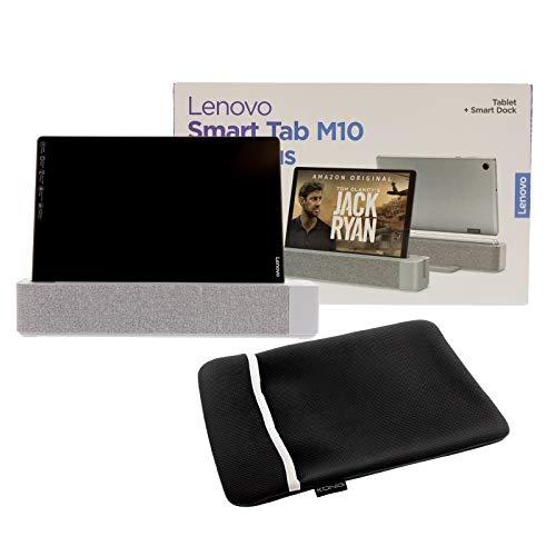 ohmtronixx Lenovo Smart Tab M10 - Tablet de 10,3 pulgadas, incluye base inteligente, control por voz Alexa, pantalla Full HD y funda