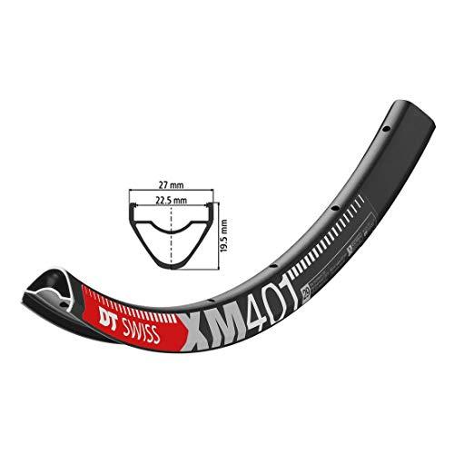 DT swiss jante de vélo noir xM 401 29'622–22,5 vL 28 trous 6,5 mm