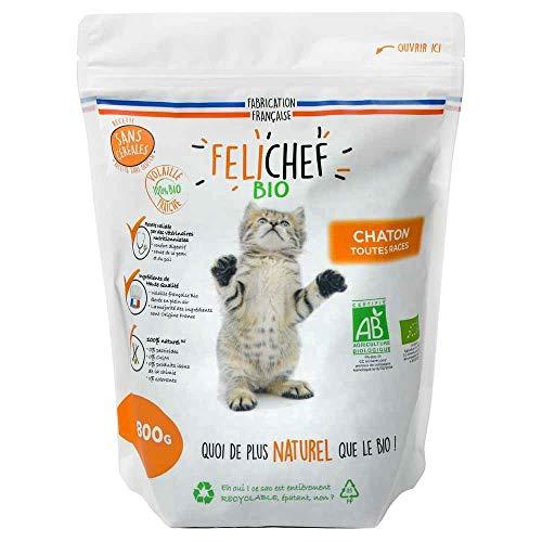 Félichef - Bio - Croquettes sans Céréales et Gluten pour Chaton - 800 g