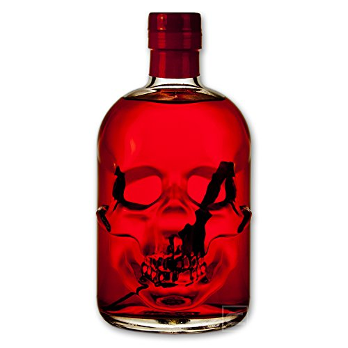 Red Chili Head Absinthe 0,5l - 55% Vol. - Totenkopfflasche - Skull Bottle - HOT AND STRONG