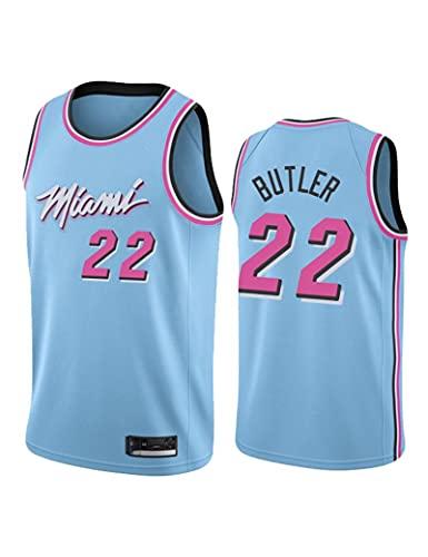 Kfdfns Baloncesto para Hombre 2021 Jersey Miami Heat NBA # 22 Jimmy Butler Chaleco Deportivo Transpirable Top Sudadera sin Mangas Camiseta Chaleco Top