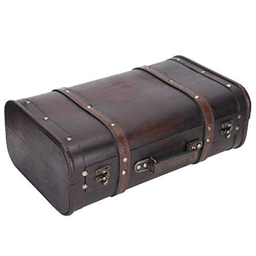 Caja de madera decorativa, buena estética, maleta vintage d