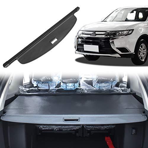 OREALTOOL Laderaumabdeckung Kofferraum Schutz Abdeckung Cargo Cover für Mitsubishi Outlander 2013-2018 Schwarz Ausziehbar Kofferraumabdeckung Rollo