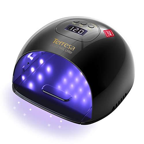 Terresa UV LED Lampe für Gelnägel, 72W Nageltrockner für Gel Nagellack, Professionelle Nagellampe in Salonqualität, mit 3 Timern, Auto-Sensor, Nagelwerkzeuge für Fingernagel und Zehennagel