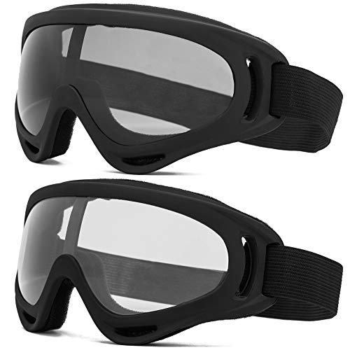 ZAIQUN Ski Goggles for Men Women & Youth,Snowboard Bike Motocross Glasses Anti-Fog with UV 400 Protection,Anti-Glare Lenses,2 Pack