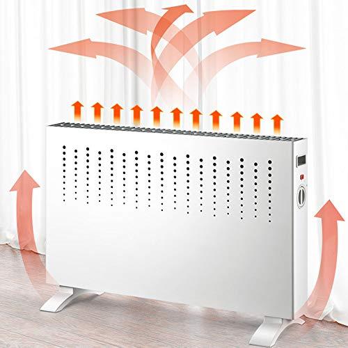 GAGYMJ Elektrische Heizung Dünne Platte 2000W,Konvektor Radiator Elektroheizung, Mobil Stufenlose Temperaturregelung Überhitzungsschutz Weiß