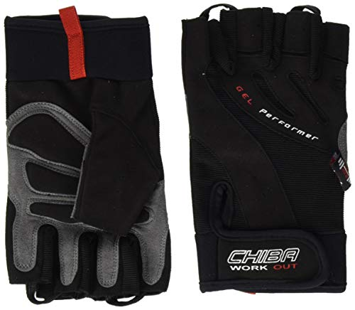 Chiba Men's Gel Performer Training Glove-Black, Medium