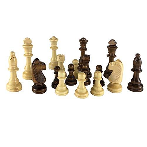SUJIE Ajedrez Conjunto de Piezas de ajedrez de Madera King Altura 54/65/80/92/105 mm Juego de ajedrez de Viaje Nueva Zelanda Chessmen de Madera for competiciones for Regalo Ajedrez Internacional