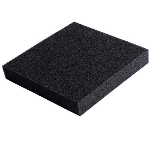 "AQUANEAT Reticulated Open Cell Foam Sponge Filter Media Pad Aquarium Fish HMF Sump 11""/23"" (11""x10.25""x1.5"" Black (Fine))"