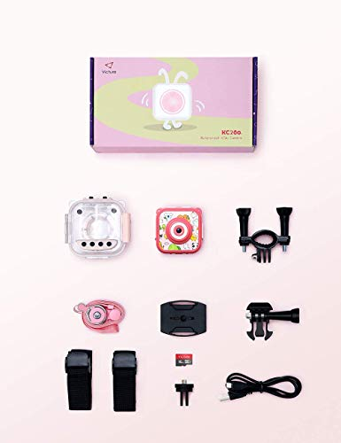 """Victure Kids Camera Waterproof 1080p Full HD Video Camcorders Sports Action Digital Camera with 16GB SD Card for Girls… 9 <p>【8MP Photo & 1080p HD Video & 16GB card】 Victure Kids Camera KC200 features Full HD 1080p@/30fps videos and 8MP bright photos, shooting the most memorable moments of children. Large-capacity storage card is good for children to take a lot of photos and videos. KC200 is the best action camera as a Christmas/ birthday/ holiday gift for children 4-12 years. 【Durable & Waterproof Case】With the professional IP68 level waterproof case, Victure waterproof video kids camera can be used underwater 30m (100ft) to explore adventures, best for beach, diving, swimming, drifting, snorkeling, surfing and more. 【Colorful Filters & Unique Frames】 With built-in 7 colorful video filters and 6 unique designed photo frames, Victure kids camera can fully develop children's creativity. 2"""" LCD color screen presents and view all images directly, making recording a lifestyle. 【Useful Accessories & Multiple combinations】Included Class 10 Micro SD 16GB Card and versatile mounting kits allow the kids sports camera arrive and play, can be attached to skateboards, bike or helmets. Durable neck strap ensure safe using and full-protection. 【Excellent After-Sales Service】Victure Kids Camera supports 30-days money back and 12 months warranty and free customer service for life. A qualified after-sale service team, 7 days/ 24 hours serving for you.</p>"""