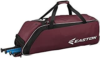 EASTON E510W Bat & Equipment Wheeled Bag | Baseball Softball | 2020 | 4 Bat Compartment | Vented Pockets - Minimize Odor & Quick Dry | Removable Shoe Panel | Zippered Pockets | Fence Hook