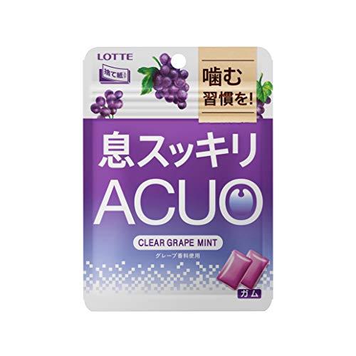 ロッテ ACUOクリアグレープミントパウチ 1箱(6袋)