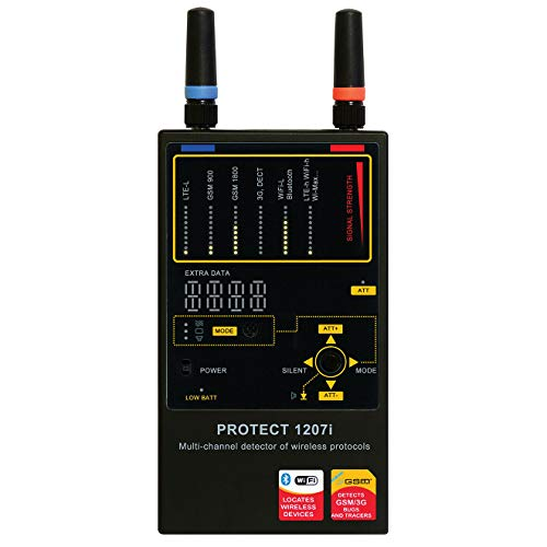Protect 1207i - Leistungsfähiger Wanzendetektor - abhörgerät aufspüren / GSM, CDMA, 3G, DECT, Bluetooth, WLAN und WiMax