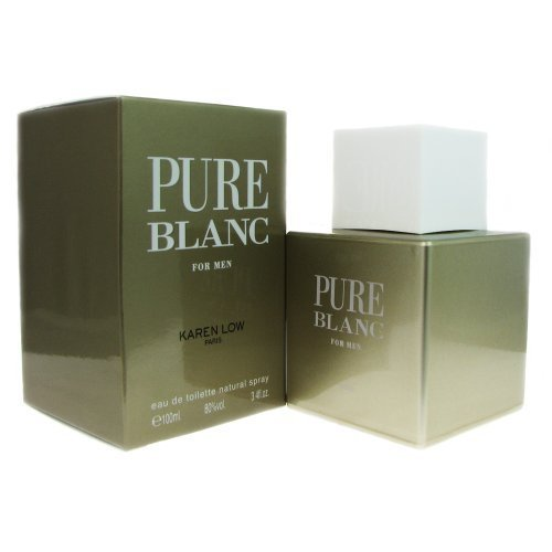 Karen Low Pure Blanc Eau De Toilette Spray for Men, 3.4 Ounce