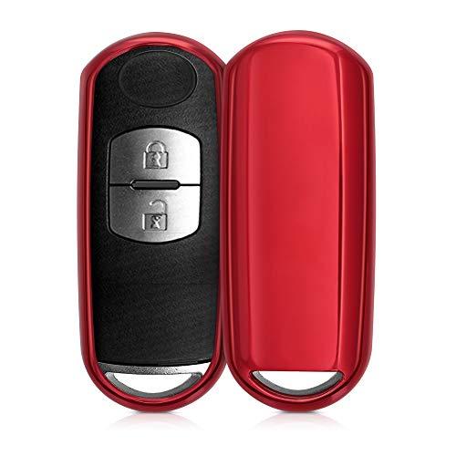 kwmobile Funda Compatible con Mazda Llave de Coche Keyless Go de 2 Botones - Carcasa Suave de TPU -
