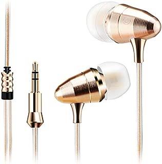 耳のイヤホーンのDm5 3.5MmマイクAuricularesが付いているIphone Samsungのための極度のステレオのヘッドホーンAudifonos Fone De Ouvido Auriculares-金1.2M / 3.5Mm