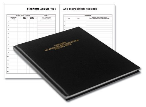 "BookFactory Gun Log Book - 120 Pages, Black Cover, Smyth Sewn Hardbound, 8 7/8"" x 11 1/4"" (LOG-120-GUN-02-LKT35)"